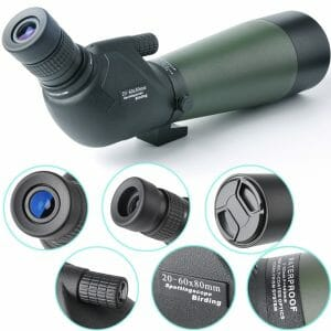gosky 20-60x 80 porro prism spotting scope