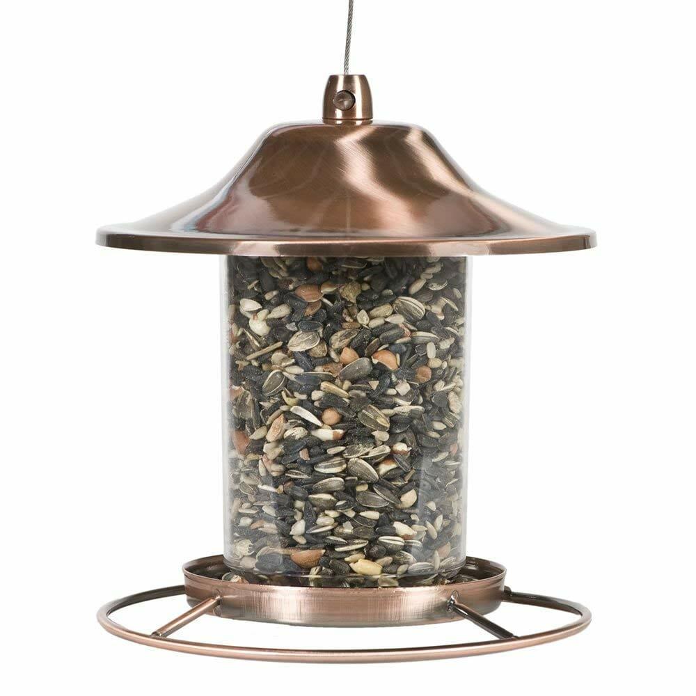 perky pet copper panorama bird feeder